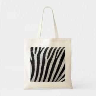 Zebra trycktotot hänger lös tygkasse