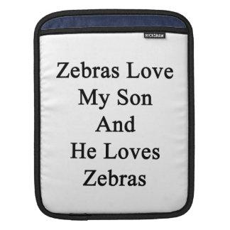Zebrodern älskar min Son, och han älskar zebror Sleeves För iPads