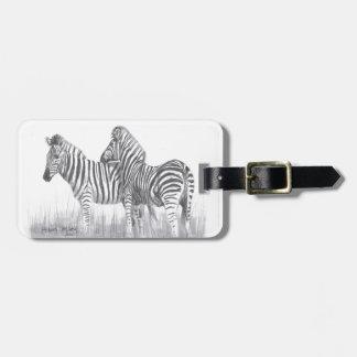 Zebror i svartvitt bagagebricka