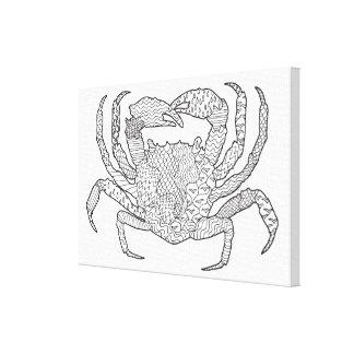 Zendoodle krabba 6 canvastryck