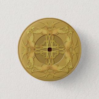 Zenen myntar knäppas mini knapp rund 3.2 cm