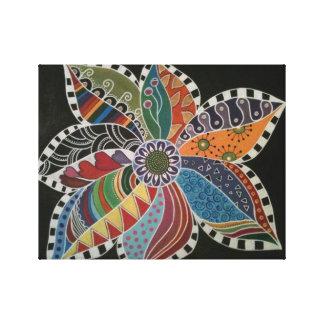 ZENKLOTTERBLOMMAN - blomma konst med en Zing Canvastryck