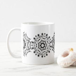 Zentangle mönster vit mugg