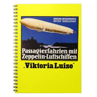 Zeppelin Viktoria Luise Anteckningsbok
