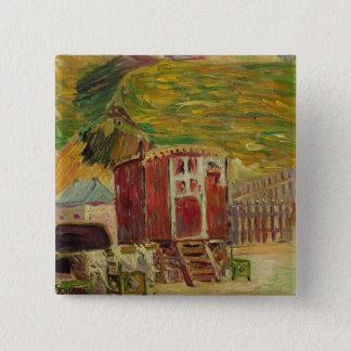 Zigenare på Port-en-Bessin, 1883 (olja på kanfas) Standard Kanpp Fyrkantig 5.1 Cm