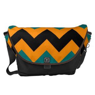 Zigzap för sparre för orangesvartblått mönster kurir väskor