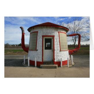 Zillah Teapot Dome bensinstation Hälsningskort