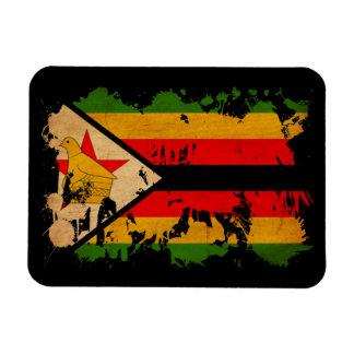 Zimbabwe flagga flexibel magnet