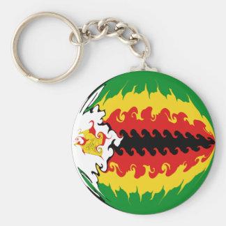Zimbabwe Gnarly flagga Nyckelringar