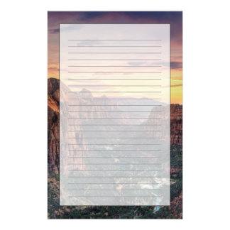 Zion kanjonnationalpark brevpapper
