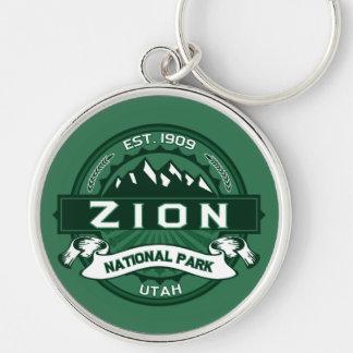 Zion nationalpark Keychain Rund Silverfärgad Nyckelring