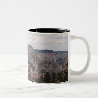 Zion nationalpark Två-Tonad mugg