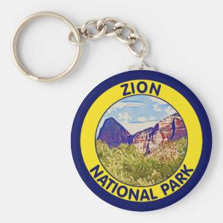 Zion nationalpark, Utah Rund Nyckelring