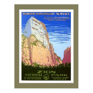Zion nationalpark vykort