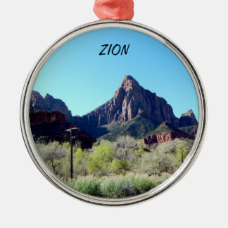 Zion nationalparkprydnad julgransprydnad metall