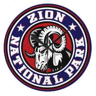 Zion rammar cirklar stor klocka