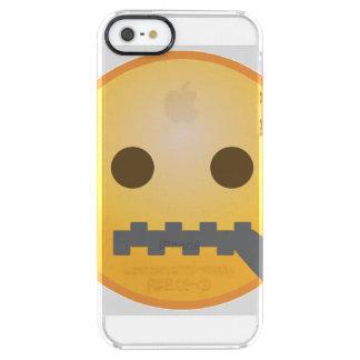 Zipper Emoji Clear iPhone SE/5/5s Skal