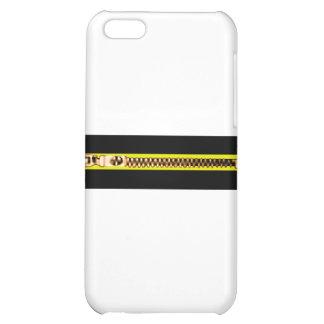 Zippersvartgult förkopprar bH MUSEET Zazzle iPhone 5C Skydd