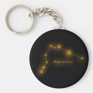 Zodiac - Aquarius Rund Nyckelring
