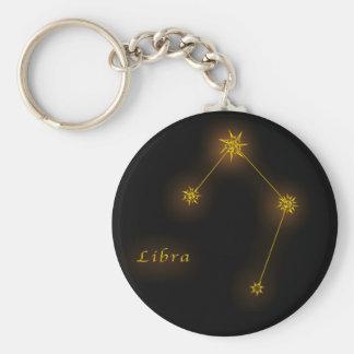 Zodiac - Libra Rund Nyckelring