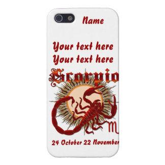 Zodiac Scorpio-Design-1 beskådar nedanfört antyder iPhone 5 Fodral