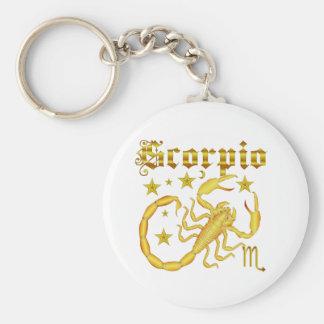 Zodiac Scorpio-Design-2 beskådar nedanfört antyder Rund Nyckelring