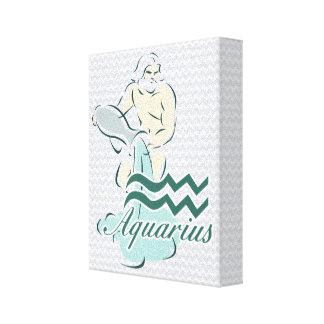 Zodiac undertecknar Aquariussymbol Canvastryck