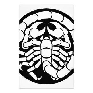 Zodiac undertecknar ScorpioScorpionsymbolen Brevpapper