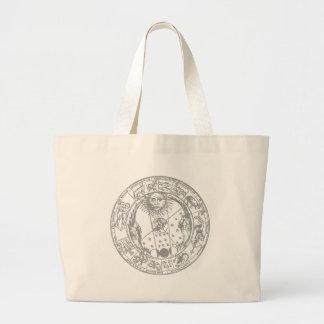 Zodiac undertecknar vintage tote bags