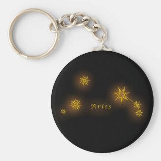 Zodiac - vädur rund nyckelring