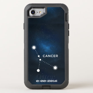 Zodiacfödelsedag, astrologicancer OtterBox defender iPhone 7 skal