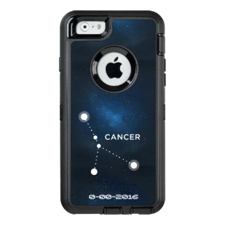 Zodiacfödelsedag, astrologicancer OtterBox defender iPhone skal
