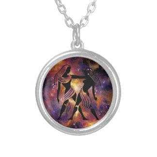 ZodiacGeminihalsband Silverpläterat Halsband