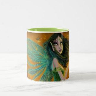Zoe Beeloved grön 15oz Två-Tonar kaffemuggen Två-Tonad Mugg