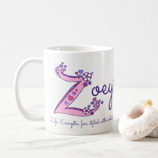 Zoey känd menande dekorativ Z monogrammugg Vit Mugg
