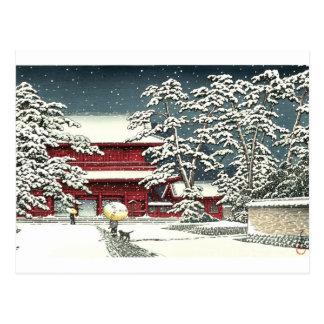 """Zojoji i snö"" vid Kawase Hasui 川瀬巴水 Vykort"