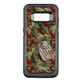 Zombie Camo med hundbrickor OtterBox Commuter Samsung Galaxy S8 Skal