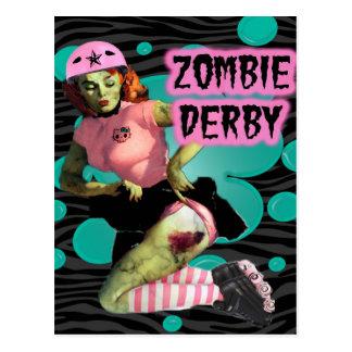 Zombie Derby Vykort