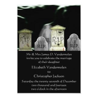 Zombie- eller spökebröllopinbjudan 12,7 x 17,8 cm inbjudningskort