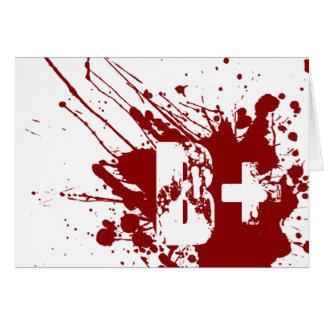 Zombie för vampyr för donation för hälsningskort
