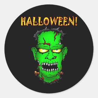 Zombie Frankenstein Runt Klistermärke