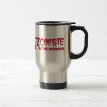 Zombie i morgonen! kaffe mugg