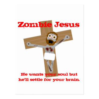 Zombie Jesus Vykort