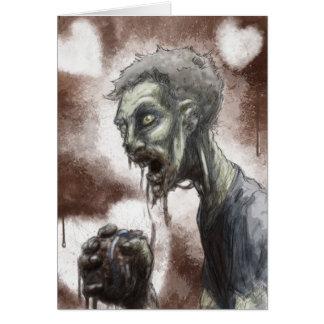 Zombieälsklingkort Hälsningskort