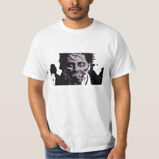 Zombieansiktemanar skjorta 2 för utslagsplats t shirts