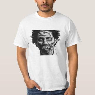 Zombieansiktemanar skjorta för utslagsplats tee