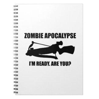 Zombieapokalypset är jag förmiddagredot dig anteckningsbok