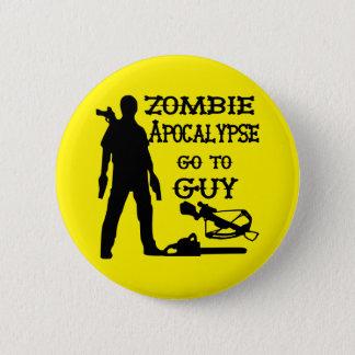 Zombieapokalypset går till grabben (vapen) standard knapp rund 5.7 cm