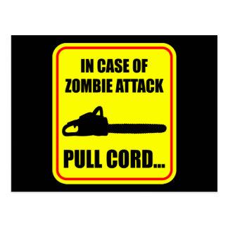 Zombieattack Vykort