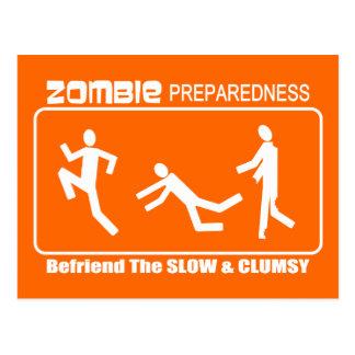 Zombieberedskapen Befriend långsam VITdesign Vykort
